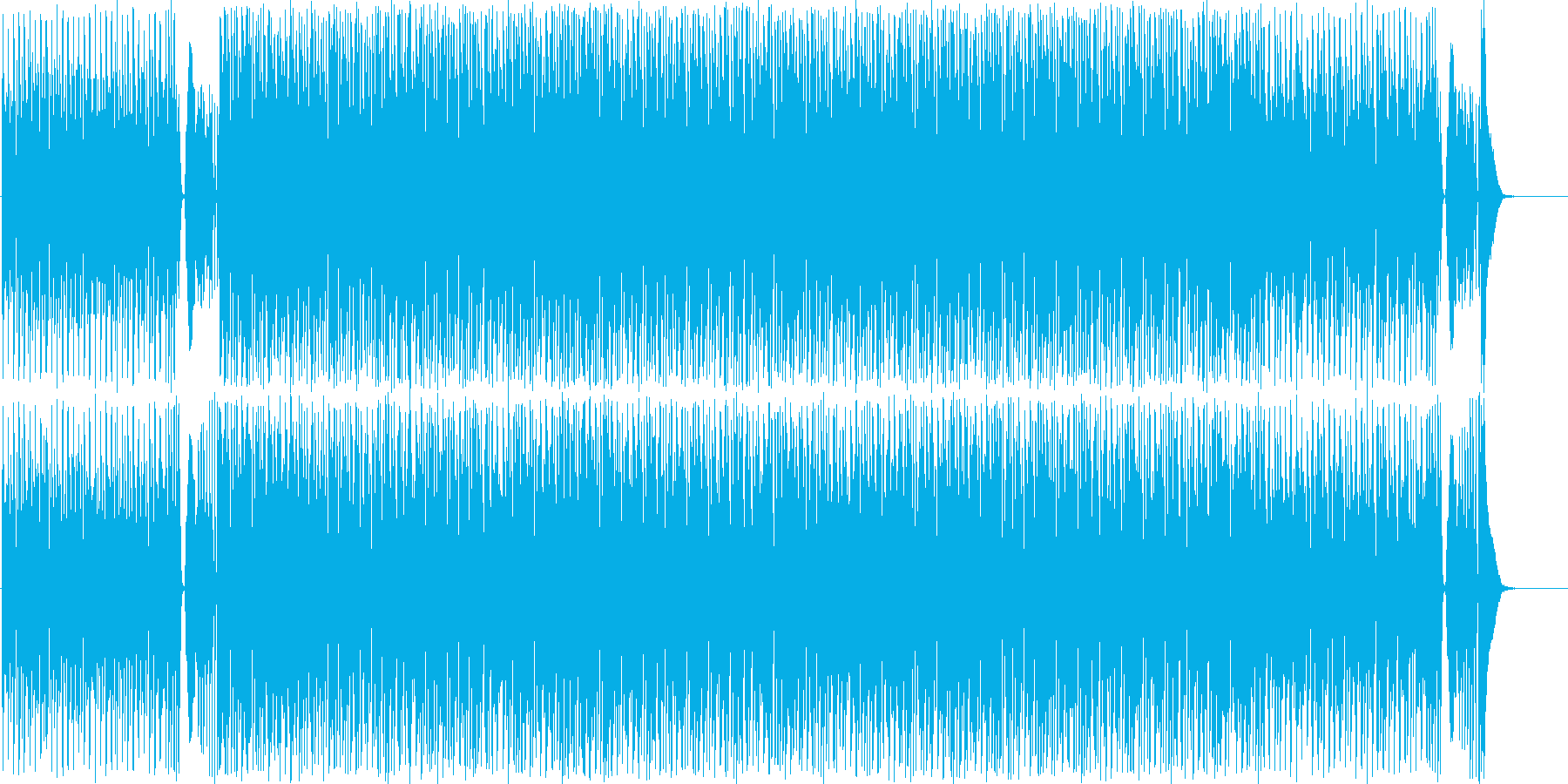 尺八の音色による和の情景を感じる曲の再生済みの波形