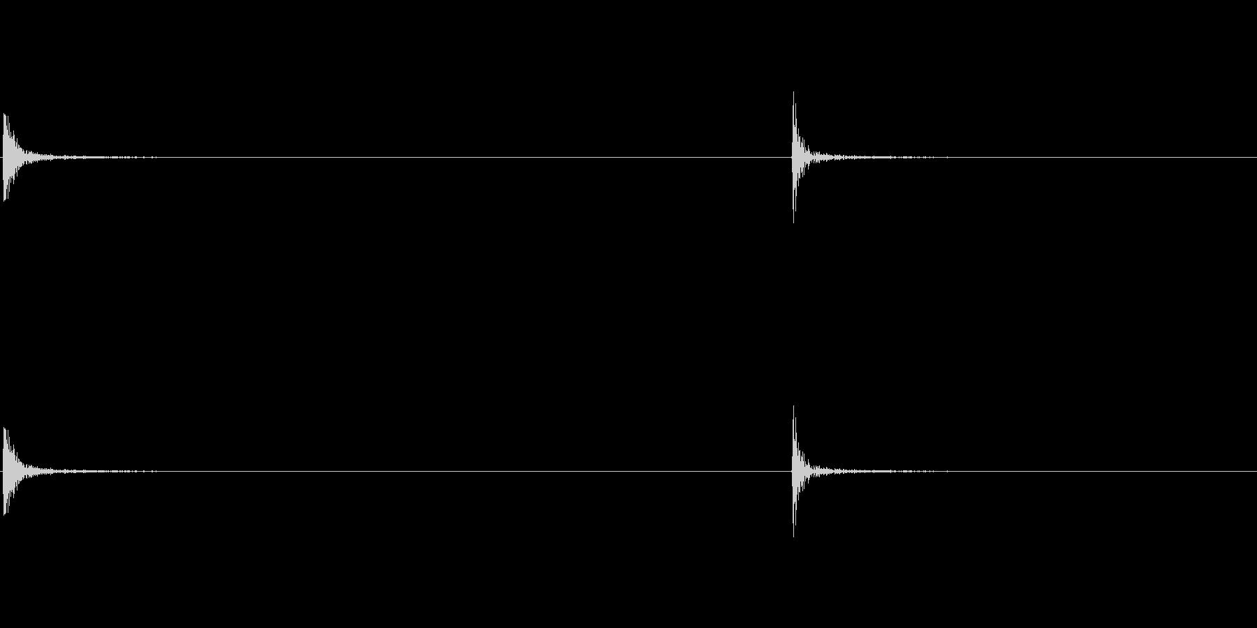 パソコンマウスクリック音の未再生の波形