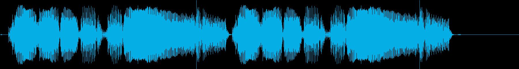 ビュグビュググビュービュグビュググビューの再生済みの波形
