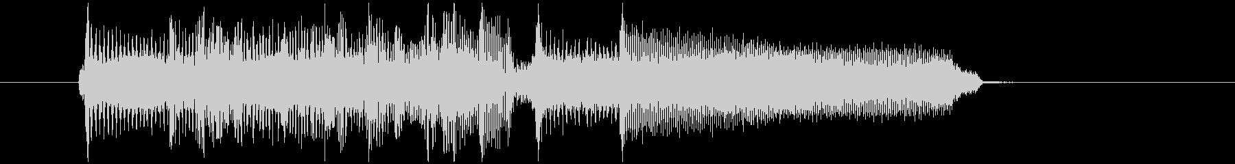 場の雰囲気を変えるギターロックジングルの未再生の波形