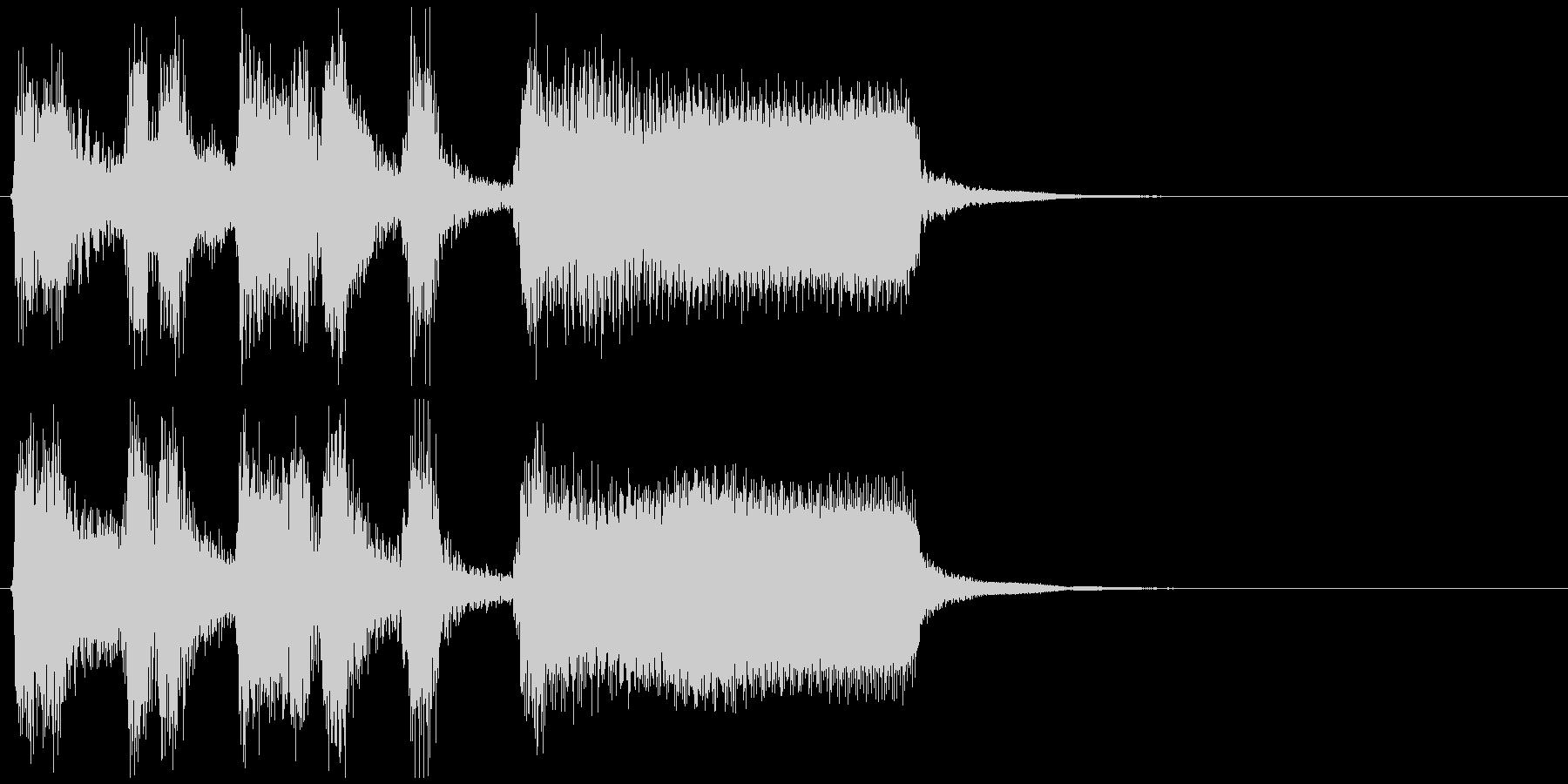 かっこいいジャズサックスのサウンドロゴの未再生の波形