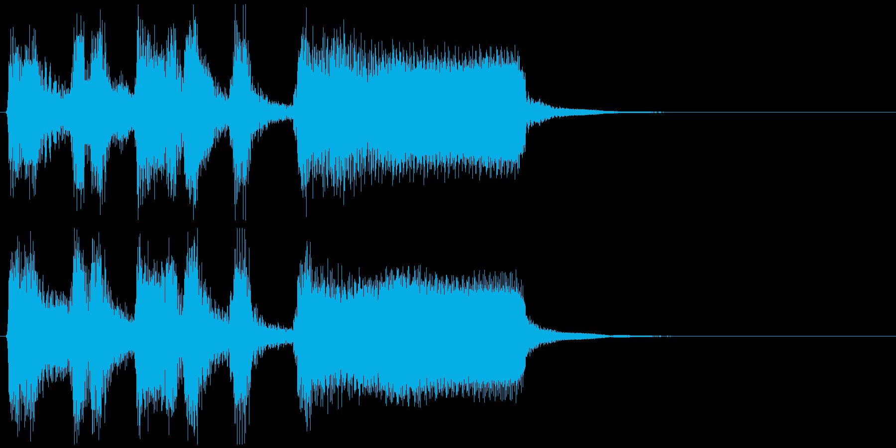 かっこいいジャズサックスのサウンドロゴの再生済みの波形