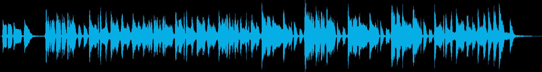 ももをテーマにした楽曲の再生済みの波形