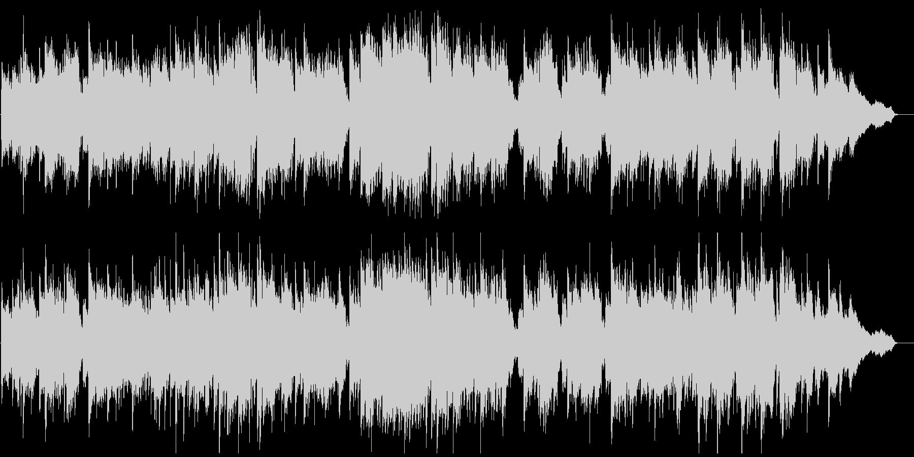短調の和風曲、壮大、ゆっくり、篠笛生演奏の未再生の波形