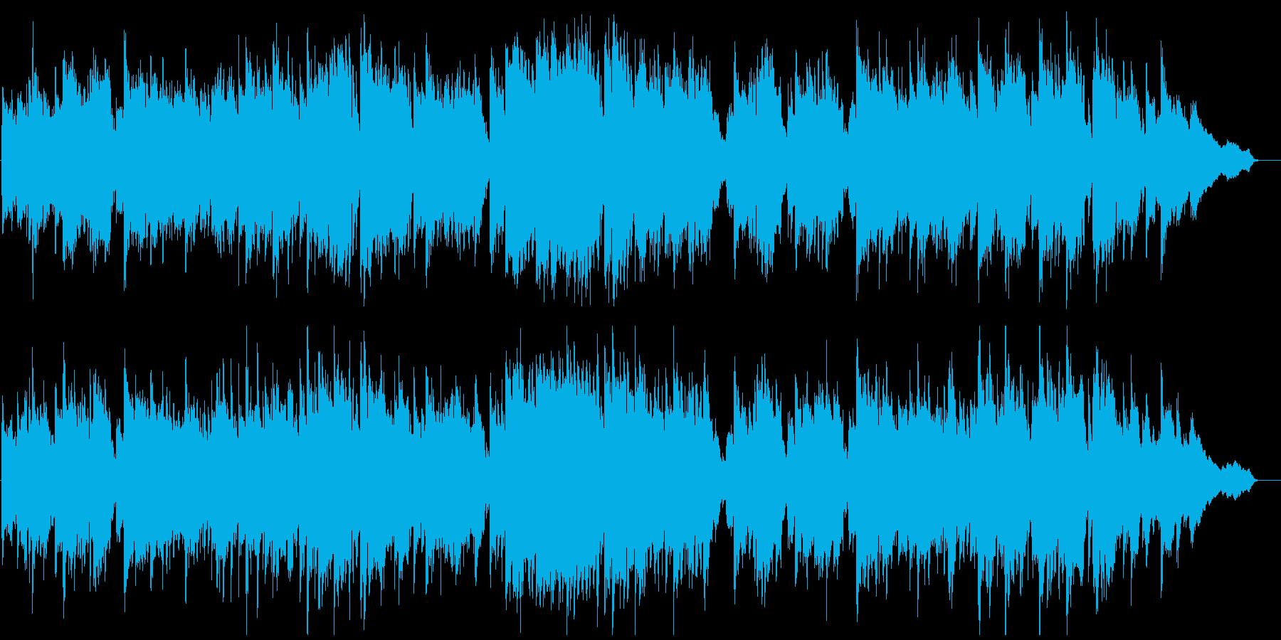 短調の和風曲、壮大、ゆっくり、篠笛生演奏の再生済みの波形
