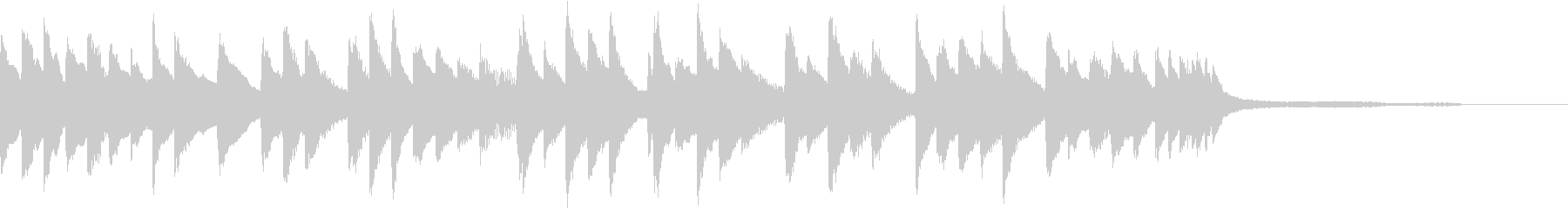 ゆったりとしたピアノジングルの未再生の波形