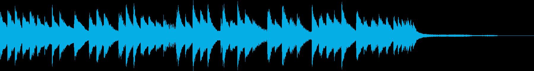ゆったりとしたピアノジングルの再生済みの波形