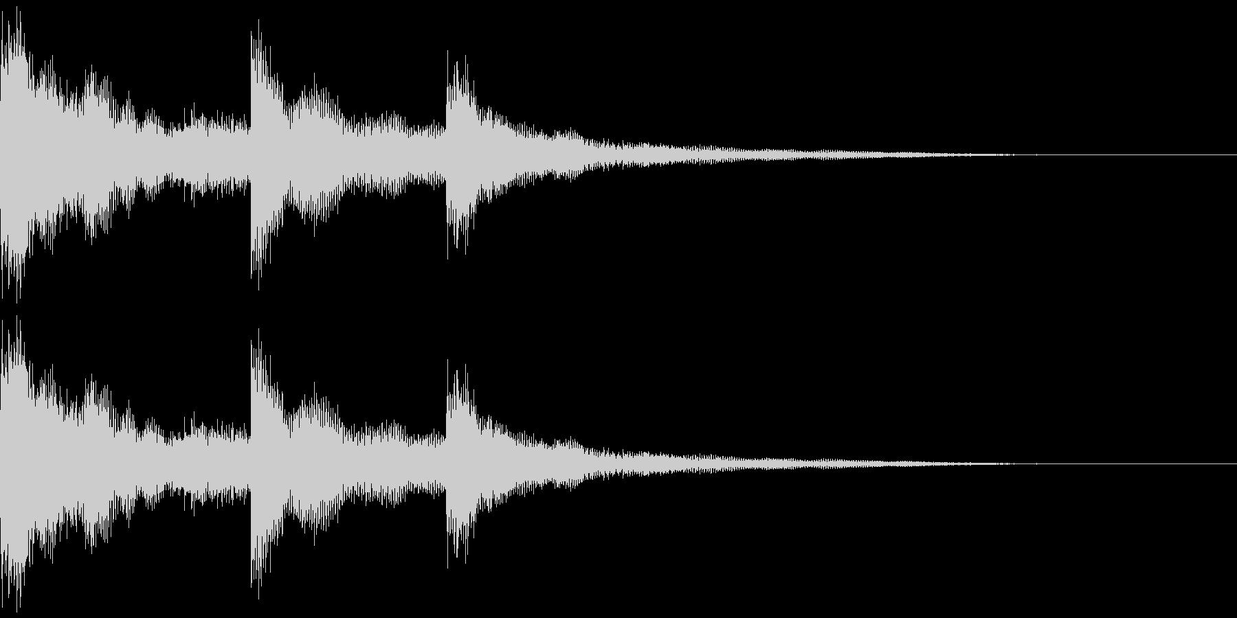 ウインドチャイム効果音(チュワリーン)の未再生の波形
