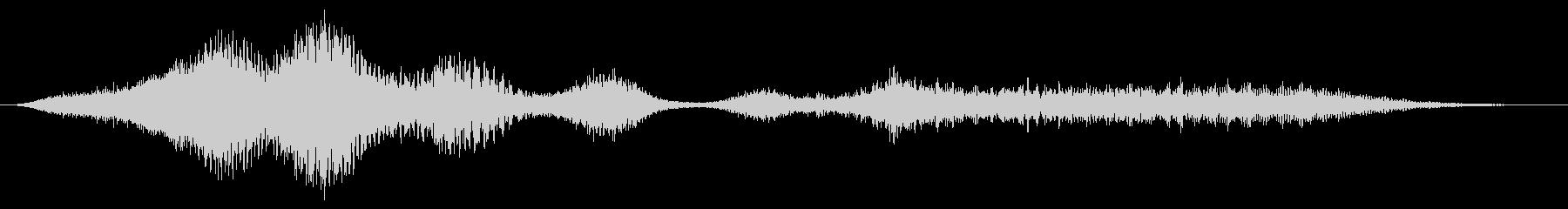 大きなフランジ付フーシュ5の未再生の波形
