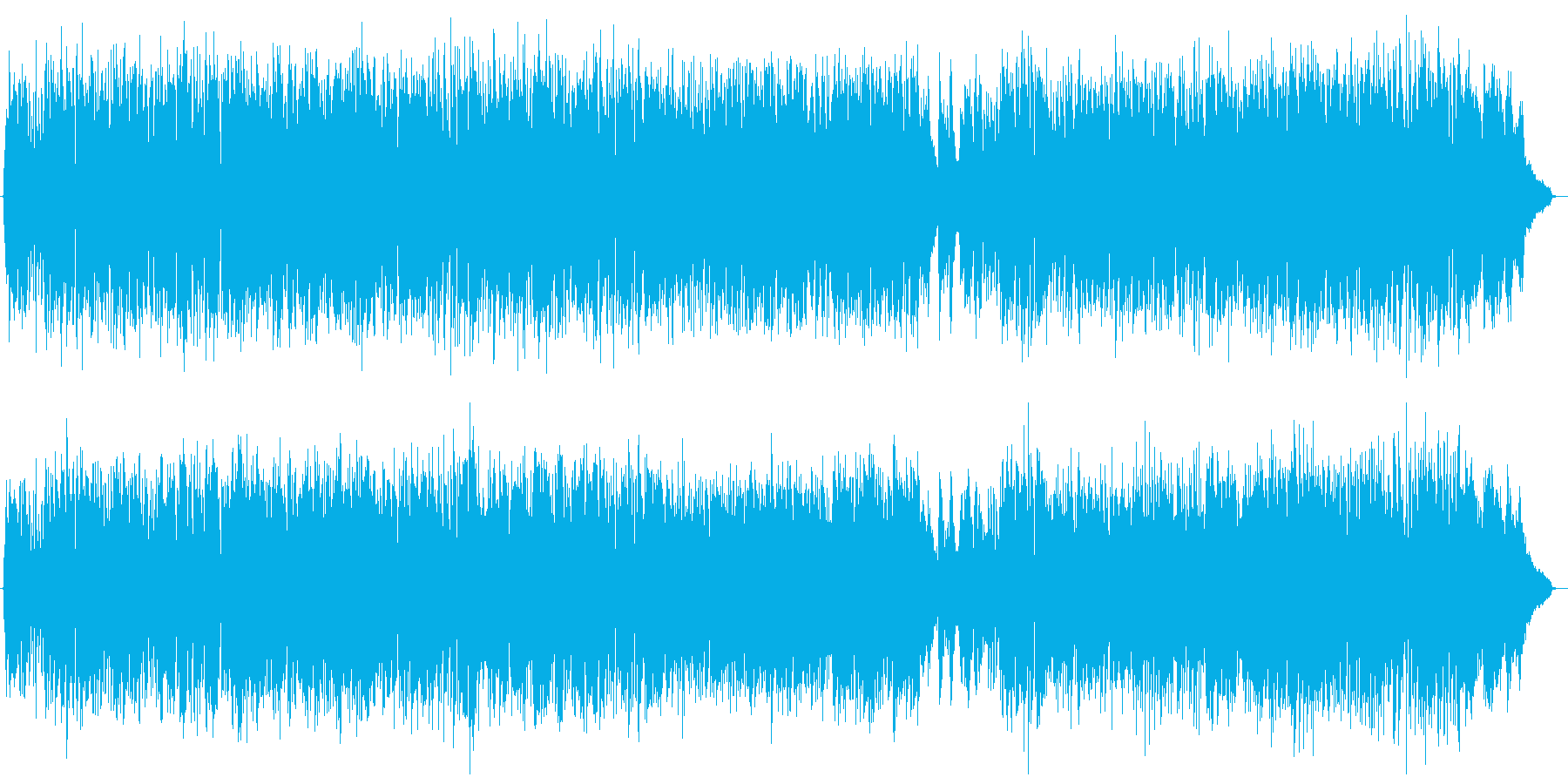 軽快でおしゃれな生演奏フルートのボサノバの再生済みの波形