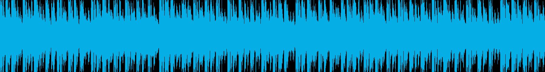 ローファイながらも飽きないBGMの再生済みの波形