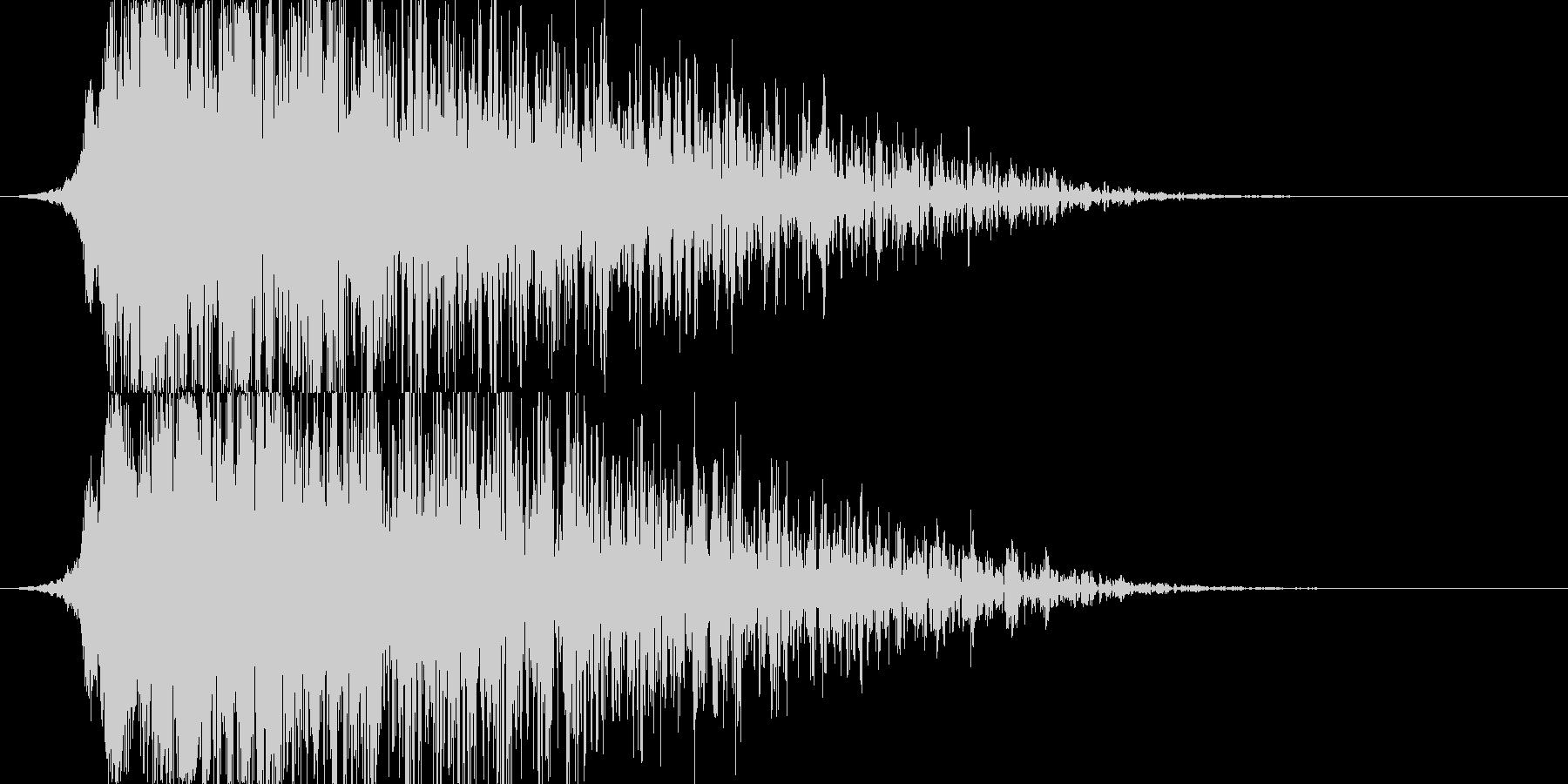 シャキーン!地震や爆発系の演出/魔法05の未再生の波形