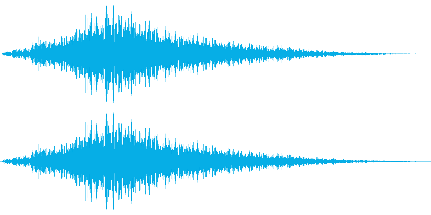シューワワーン(ワープ系)の再生済みの波形