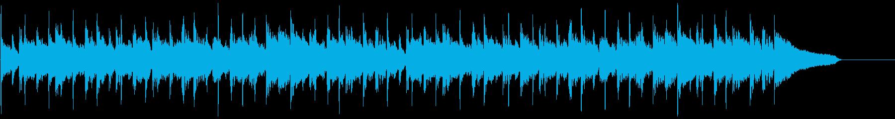 動画広告 30秒 ベル ギターA 楽しいの再生済みの波形