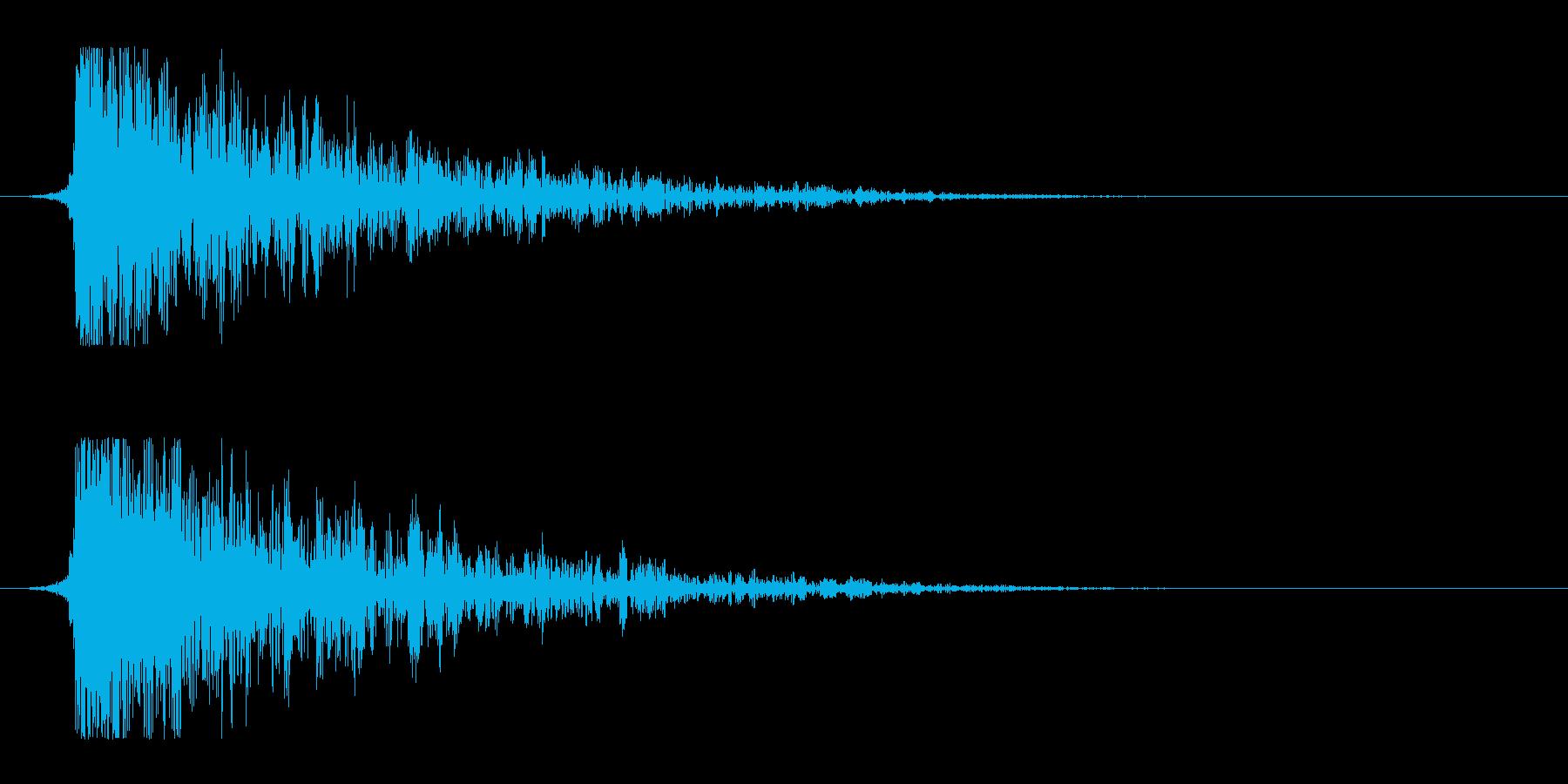 シュードーン-17(インパクト音)の再生済みの波形