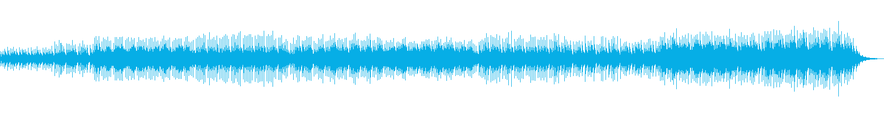 ベル系の音だけで構成された幾何学的な曲の再生済みの波形