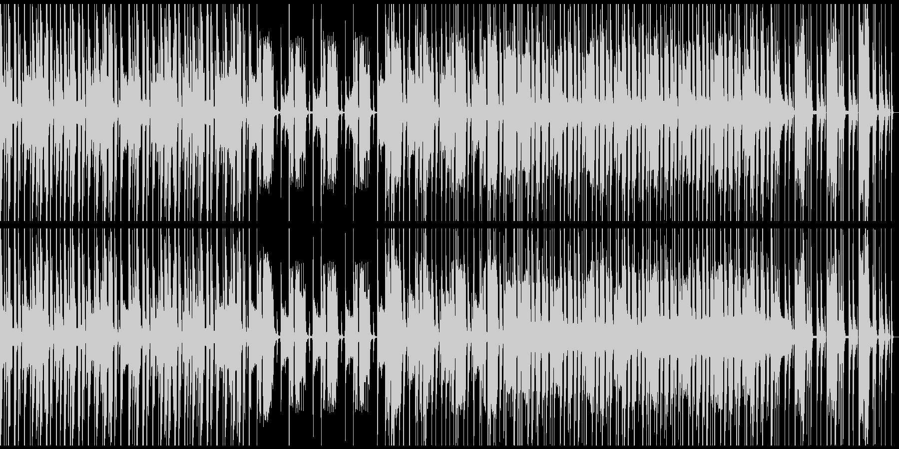 ループ仕様、軽快、コミカル、シンセの未再生の波形