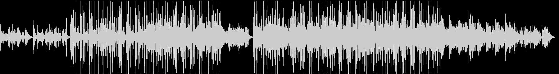 メロウなピアノのローファイ・ヒップホップの未再生の波形