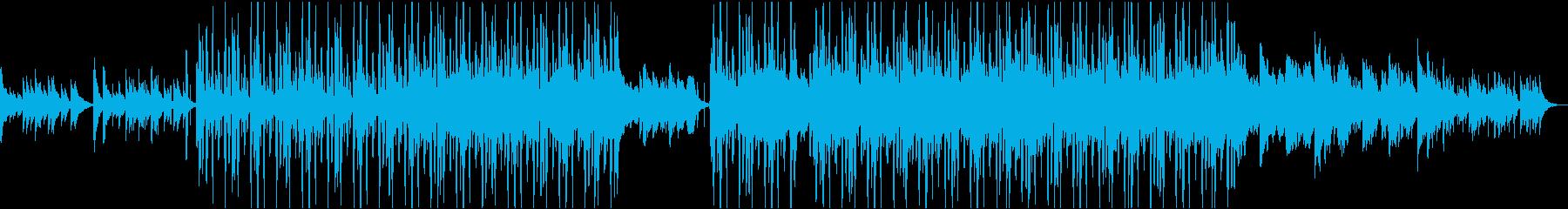メロウなピアノのローファイ・ヒップホップの再生済みの波形