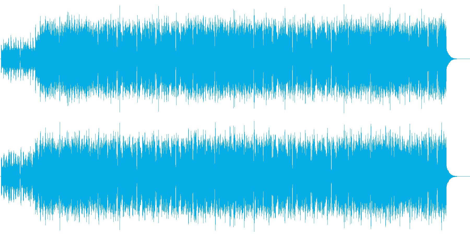 酒場イメージのフィドル&フルートケルト曲の再生済みの波形