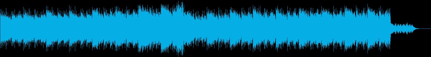 スポーツでの対決シーンBGMの再生済みの波形
