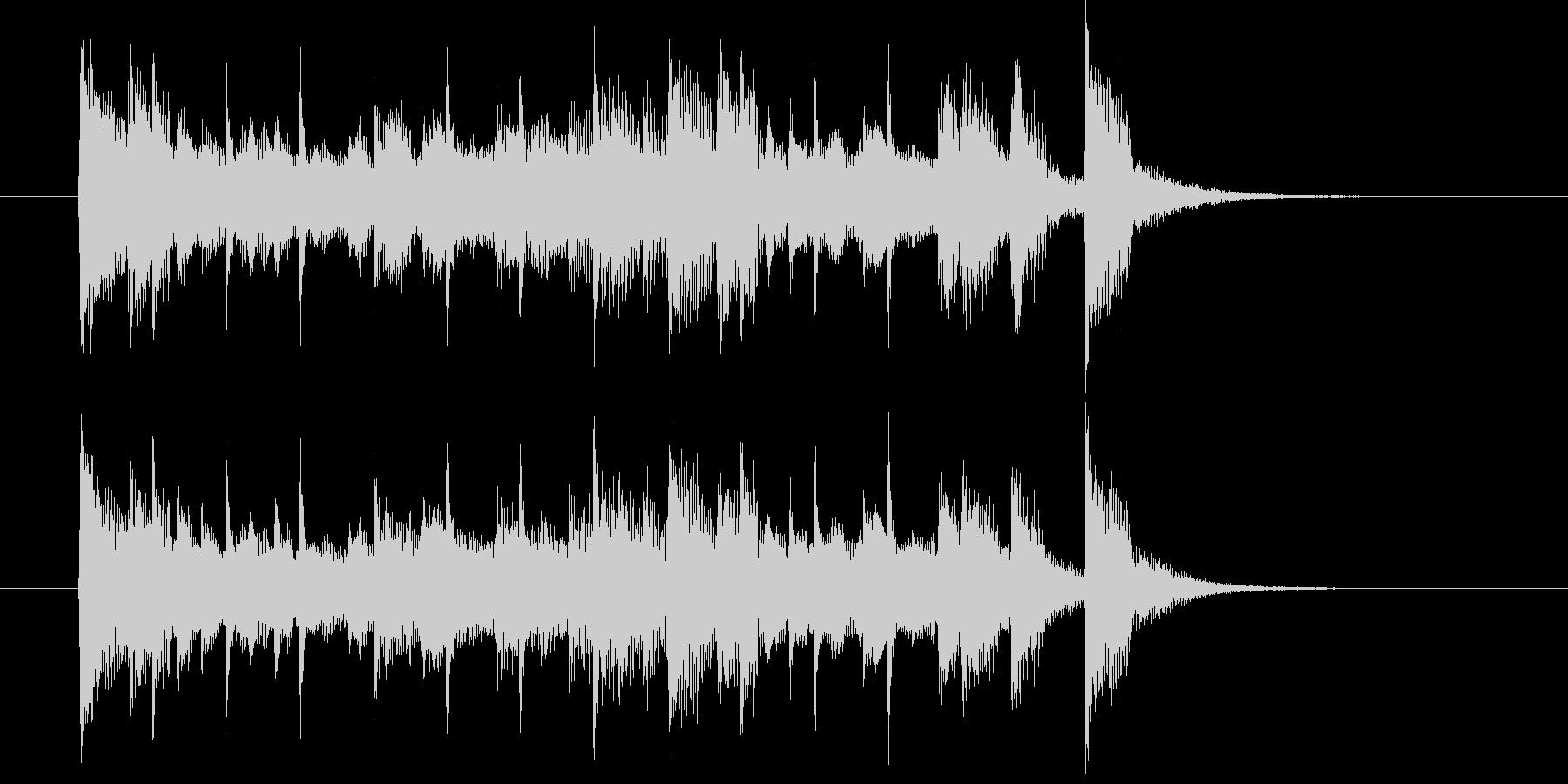 エレクトリックピアノの軽快なポップスの未再生の波形