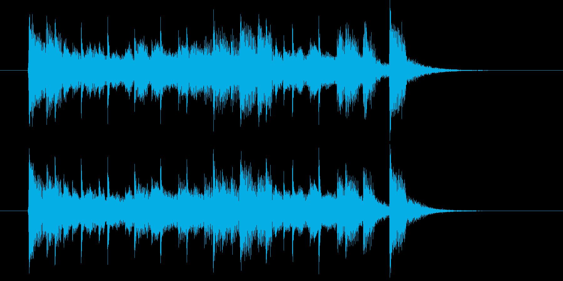 エレクトリックピアノの軽快なポップスの再生済みの波形