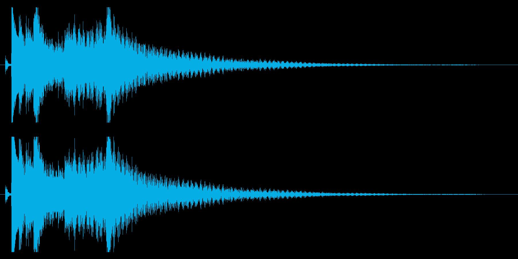 琴の駆け下がりの効果音の再生済みの波形