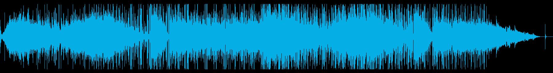 グリッジなシネマティックアンビエントの再生済みの波形