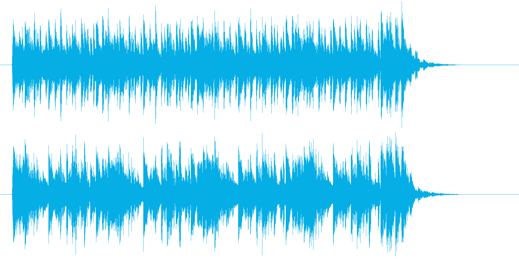 キラキラとリズミカルなポップスの再生済みの波形