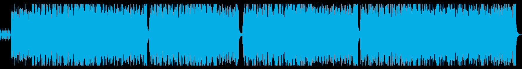 レトロ感のあるテクノの再生済みの波形