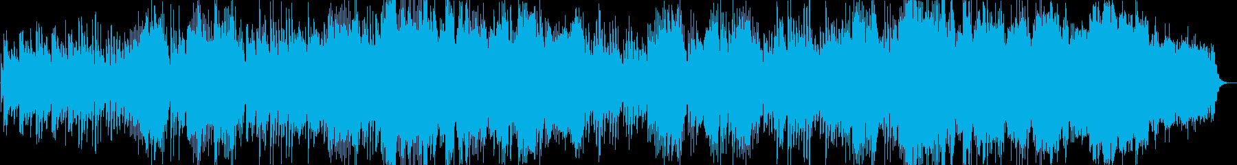 ゆったりと癒されるBGMの再生済みの波形
