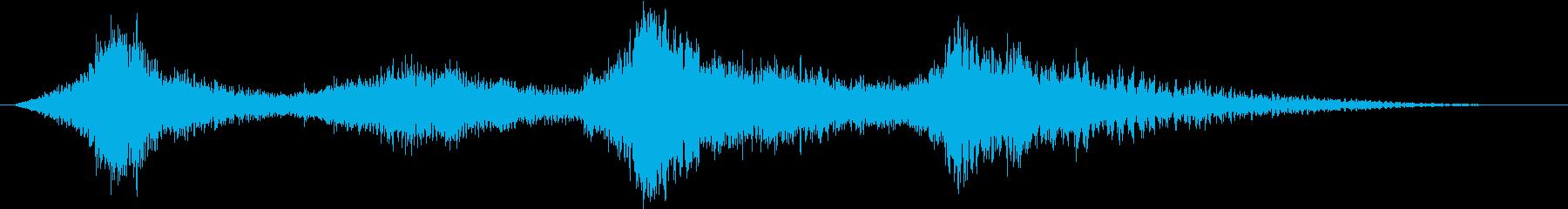 ドラマチックなピアノ弦テンションダウンの再生済みの波形