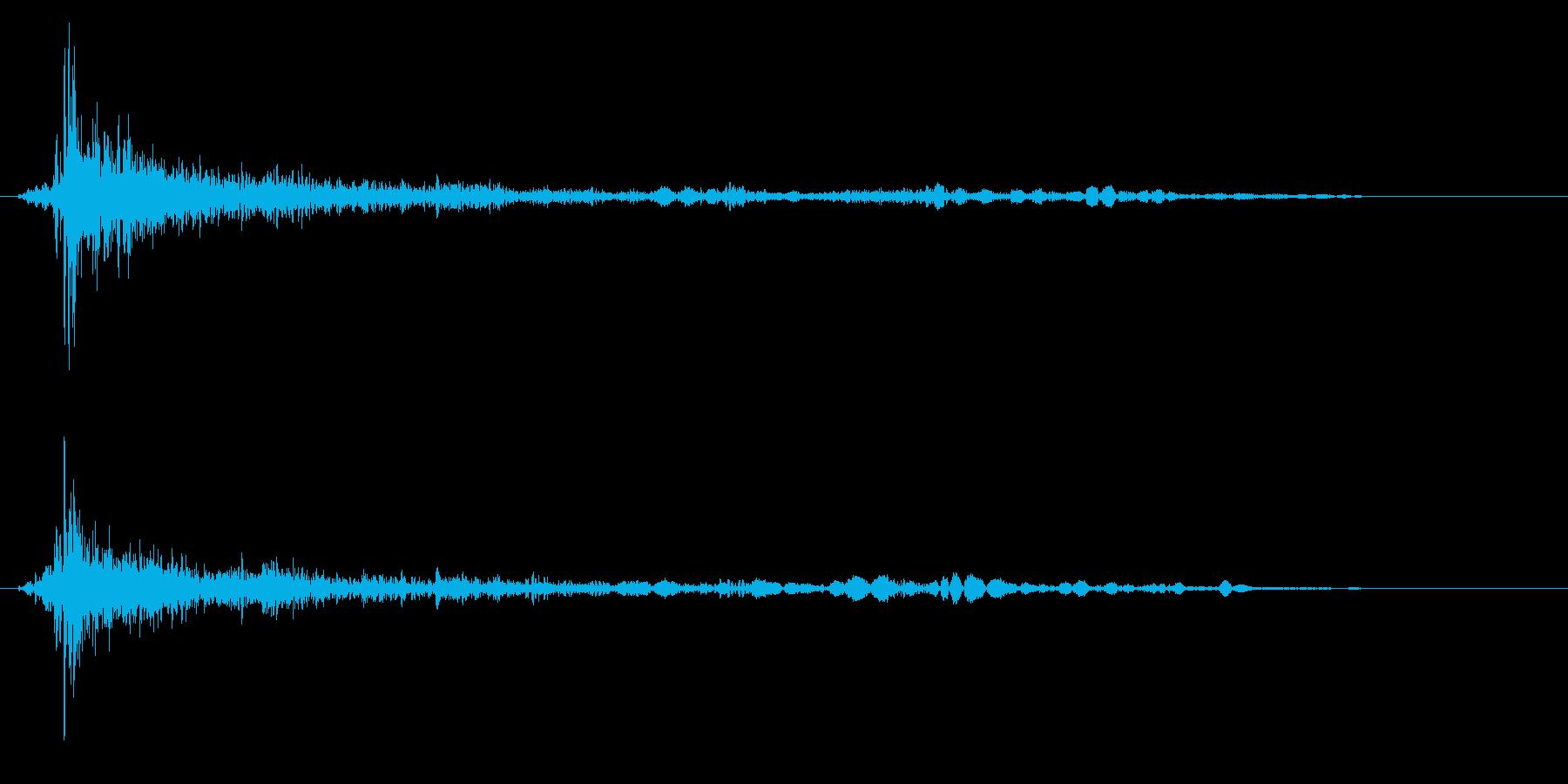 バーン(金属を叩く音)の再生済みの波形