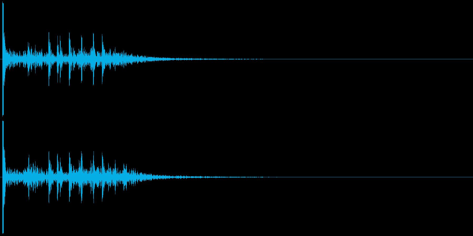 打ち上げ花火・単発#1の再生済みの波形