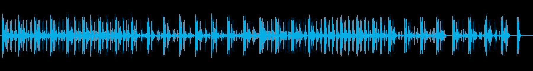 緊張感のあるシンセサウンドの再生済みの波形