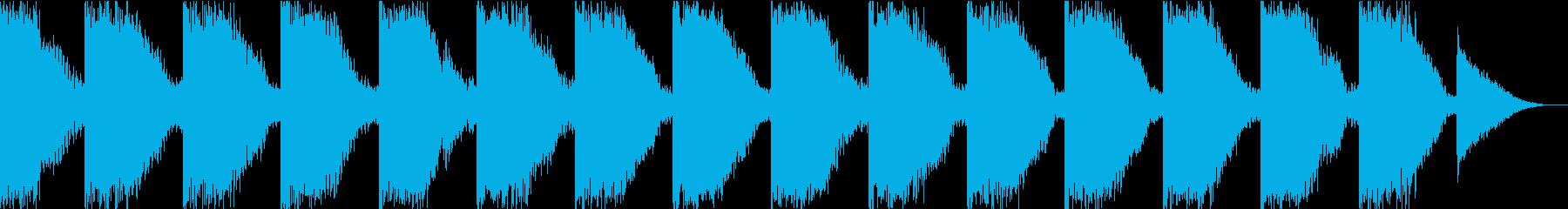危険を知らせるブザーの音の再生済みの波形