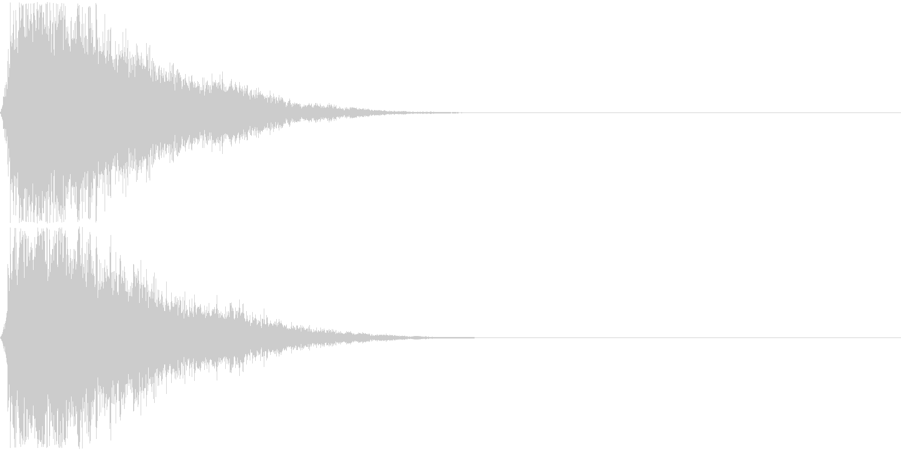 ジャキーン!(派手なインパクト音)の未再生の波形