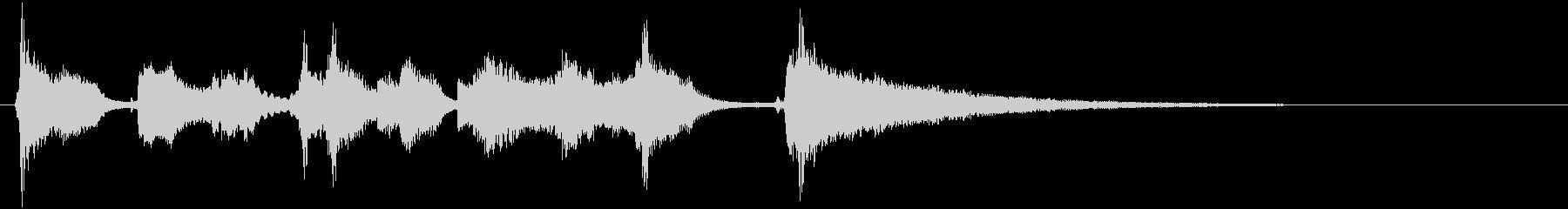 明るいウクレレとシンセサイザーのジングルの未再生の波形