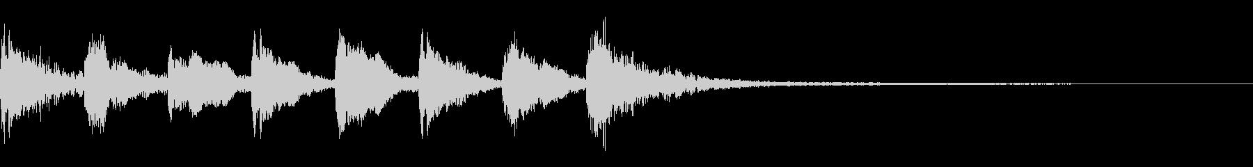 サウンドロゴ 2秒 よくありがちな雰囲気の未再生の波形
