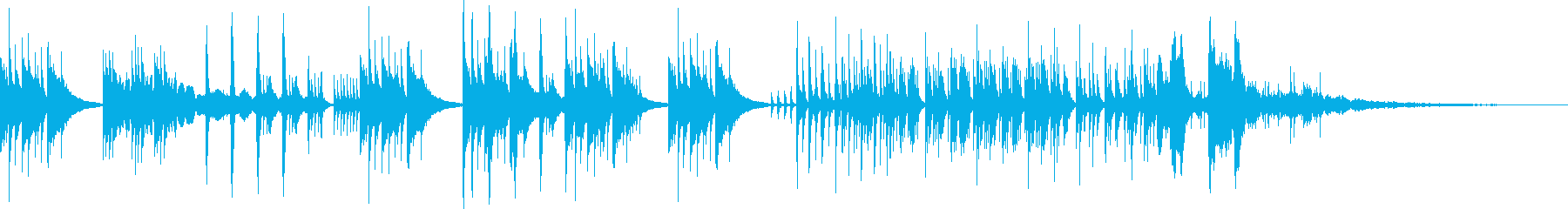 夜空で星が遊ぶようなユニークなインストの再生済みの波形