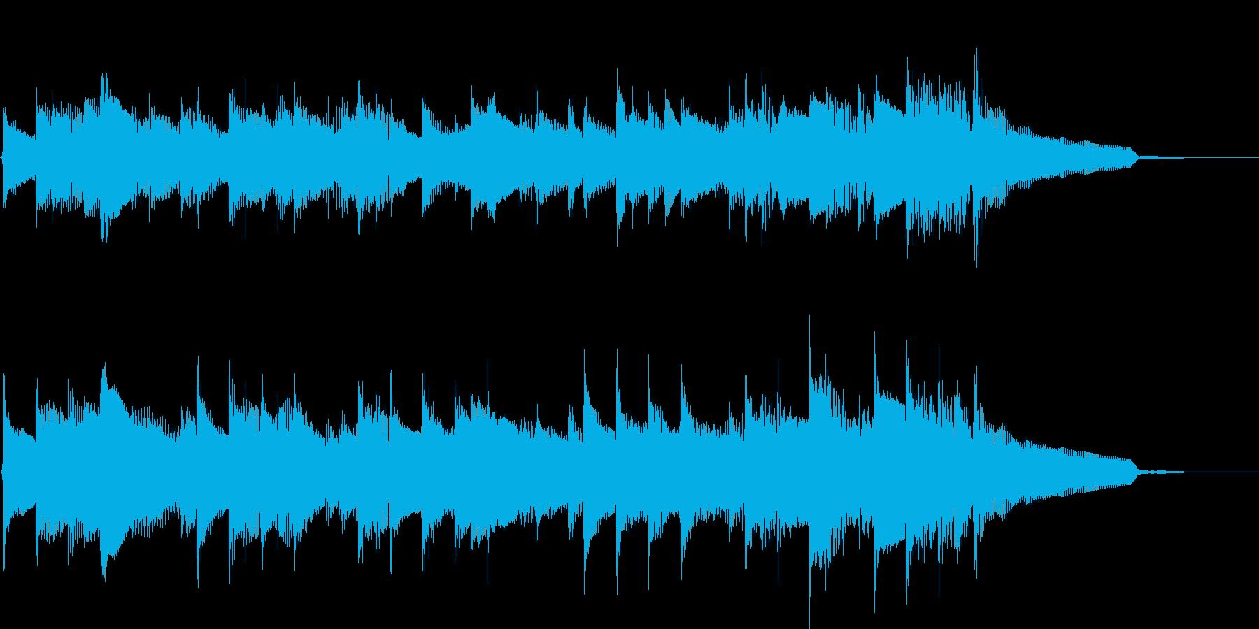 穏やかで優しい雰囲気のアコギ曲17秒の再生済みの波形
