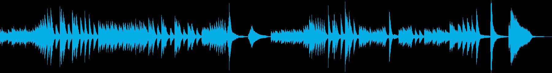 可愛いピアノ曲の再生済みの波形