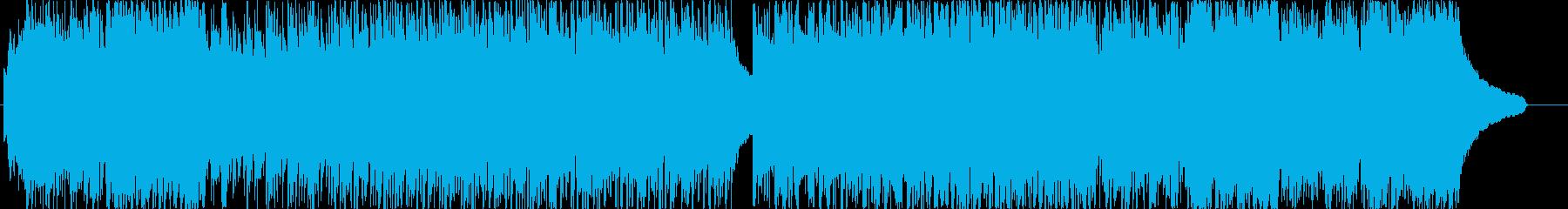 ニュースや紹介映像に向いたクールなBGMの再生済みの波形