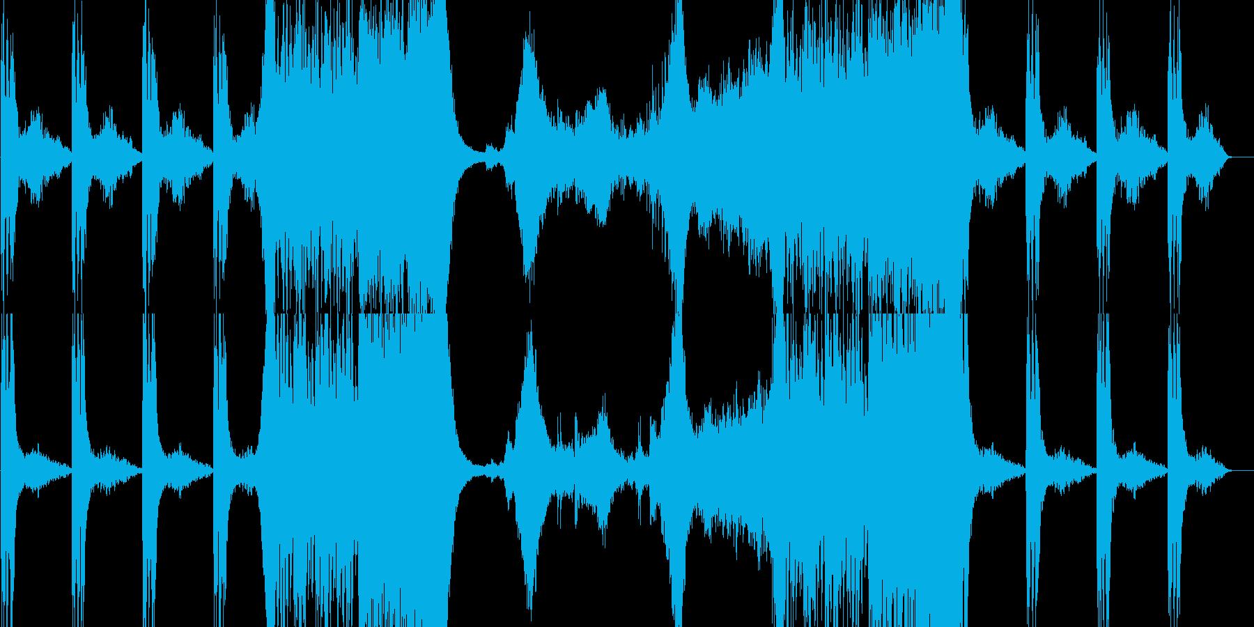 緊張感のあるパーカッションの再生済みの波形