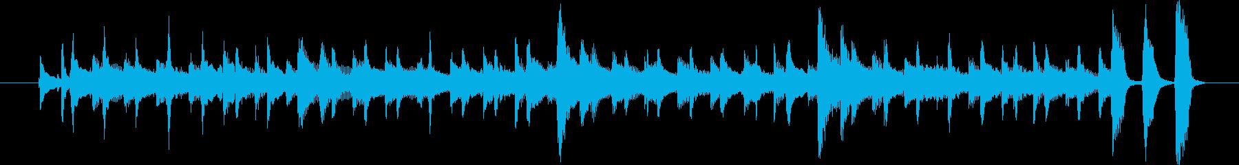 沖縄三線の音で楽しい雰囲気ですの再生済みの波形
