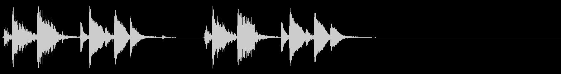 お洒落でリズミカルな6秒ジャズピアノ4の未再生の波形