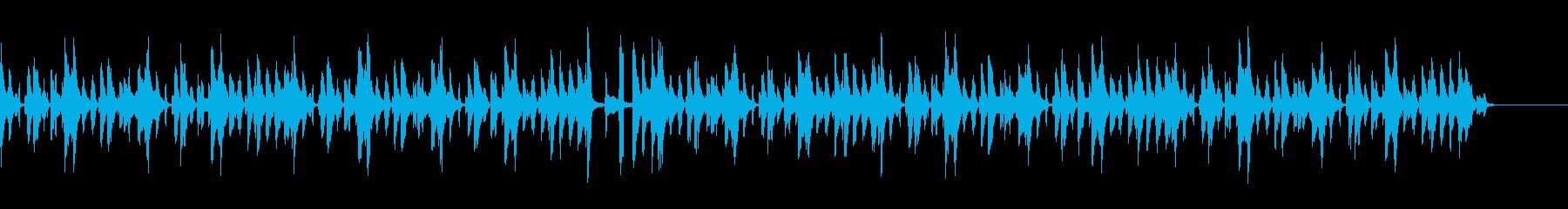 動物、料理動画向き可愛い木琴音楽(声有)の再生済みの波形