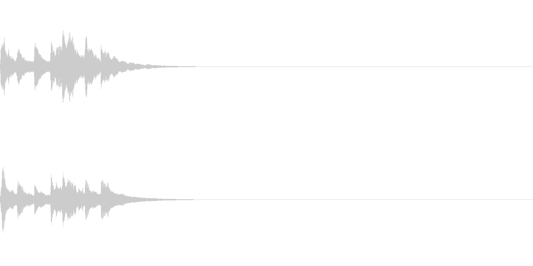 アイキャッチ用の音の未再生の波形