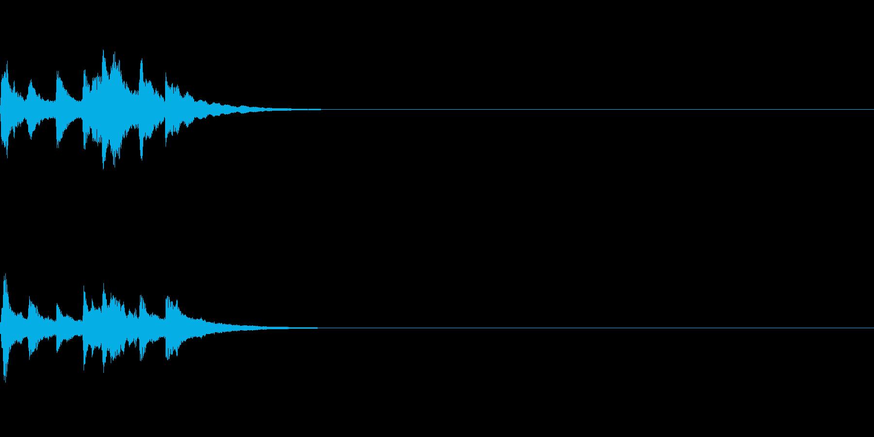 アイキャッチ用の音の再生済みの波形